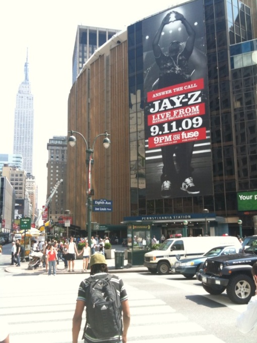 Jay zs msg concert on 911 officially called answer the call jay z at msg 9 11 promo 2 malvernweather Choice Image