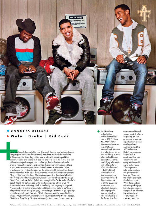 Wale, Drake & KiD CuDi In GQ Magazine | Crook From The Brook